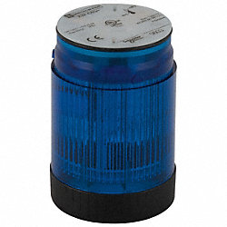 Tower Light, Flashing, 120V, 50mm, Blu