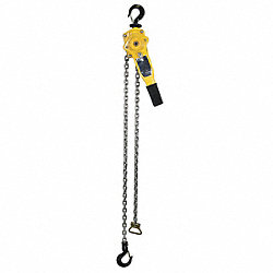 Lever Chain Hoist, Cap 1500Lb, Lift 20Ft