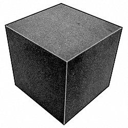 Foam Cube, Polyether, Charcoal, 4 In Sq