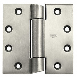 Hinge, Steel, Finish Satin Chrome, H 4 1/2