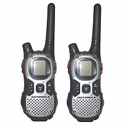 Two-Way Radio, 22 Channel, Black/Silver