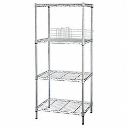 Wire Shelving, 74x60x18, 5 Shelf, Zinc
