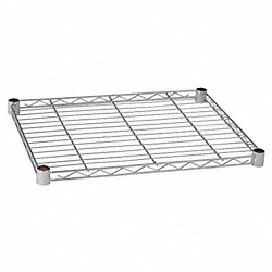 Wire Shelf, 24 x 18 in., Zinc