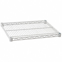 Wire Shelf, 72 x 18 in., White