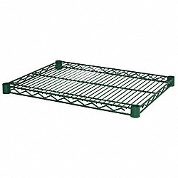 Wire Shelf, 24 x 18 in., Green