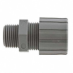 Cord Connector, NPT, 0.50-0.63 In, Gray
