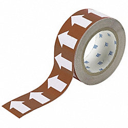 Arrow Tape, White/Brown, 1 In. W