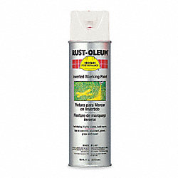 Inverted Marking Paint, White, 15 oz.