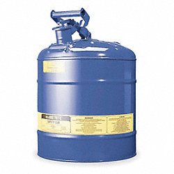Type I Safety Can, 5 gal., Blue, 16-7/8In H