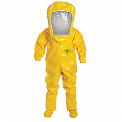 Encapsulated Suit, XL, Tychem BR, Yellow