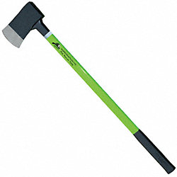 Axe, Flat Head, Lime Fiberglass, 36 In.