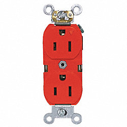 Iso.Grnd Receptacle, IndGrade, 5-15R, Red
