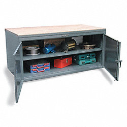 Cabinet Workbench, Maple Top, W 84, H37, D36