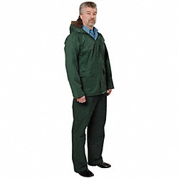 2 Piece Rainsuit w/Hood, Forest Green, 2XL
