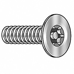Mach Screw, Flat, 10-24 x 3/4 L, PK25
