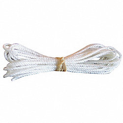 Braided Halyard, 3/8 In.Dia, White