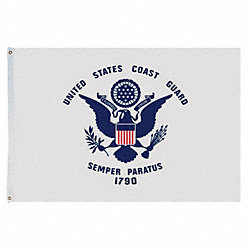 US Coast Guard Flag, 5x8 Ft, Nylon