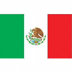 Mexico Flag, 4x6 Ft, Nylon