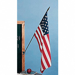 US Classroom Flag, 12x18in, Nylon, PK12