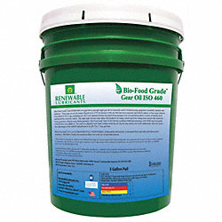 Gear Oil, Biobased, ISO 460, 5 Gal, NSF H1