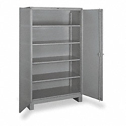 Storage Cabinet, Welded, Gray