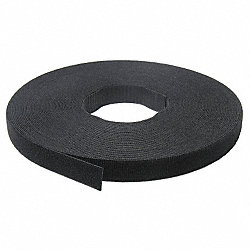 Self Gripping Strap, W 1/2 Inx25 Yd, Black