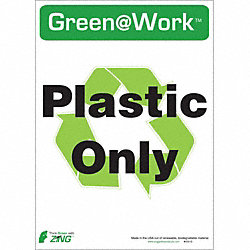 Recycle Label, Plastic Only, PK 5