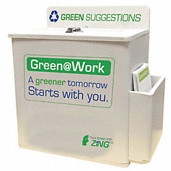 Suggestion Box, Recycled Plastic, White