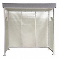 Smokers Shelter, H 103 In, W 105 In, D50 In