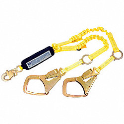 Lanyard, 2 Leg, Nylon, PVC, Yellow