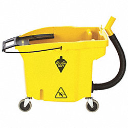 Mop Bucket, 35 Qt., Yellow, Polypropylene