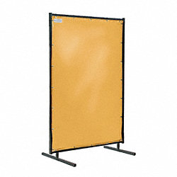 HD Welding Screens, 6 Ft W, 6 Ft H, Yellow