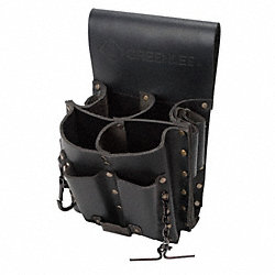 Tool Pouch, Leather, 8 Pocket