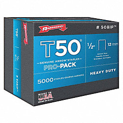 Staples, T50, 3/8x1/2 In L, PK 5000