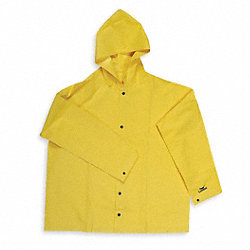 Rain Jacket with Hood, Yellow, XL
