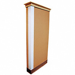 Corner Guard, White, 2x48in, Adhesive