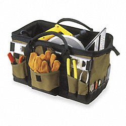Softsided Tool Bag, 24x12x11, 32 Pocket