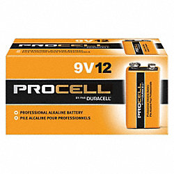 Battery, 9V, Alkaline, PK 12