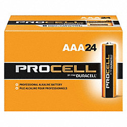 Battery, AAA, Alkaline, PK 24