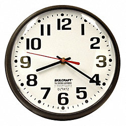 Wall Clock, Electric w 5' UL Rated Cord