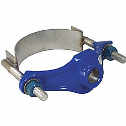 Repair Clamp, Iron, 6 In Pipe, 2 In Out