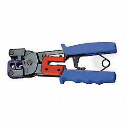 Ratchet Crimper w/Stripper For RJ11, RJ45
