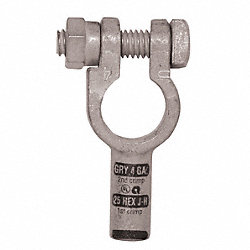 Wire Terminal, Uni, Crimp, 4 AWG, PK10