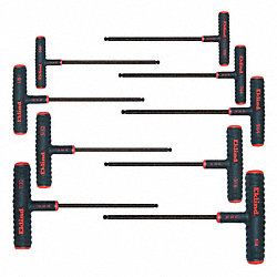 Ball End Hex Key Set, 5/64 - 1/4 In., Long