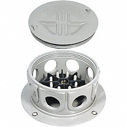 Junction Box Assy, Rnd Surface Mount, Grey