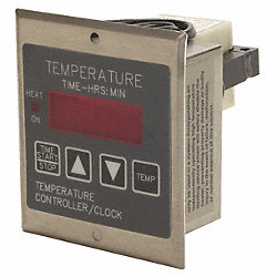 Temp Ctrl, 100-130VAC, Time/Temp Display