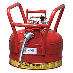 Type II DOT Safety Can, Red, 16-1/2 In. H