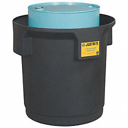 Single Drum Spill Container, Black