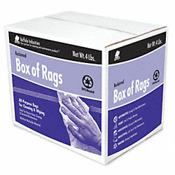 Cloth Rag, Rcycld Cottn Sweats, 4 lb.Box