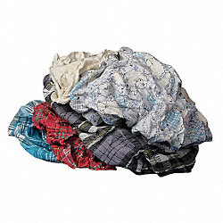 Cloth Rag, Rcycld Cottn, 10 lb. Box